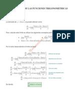 derivadas de Las Funciones Trigonometricas