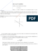 Inecuaciones Lineales Con 2 Variables