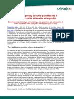 Nuevo Kaspersky Security Para Mac OS X