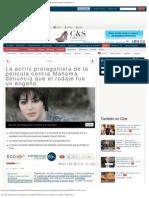 La actriz protagonista de la película contra Mahoma denuncia que el rodaje f
