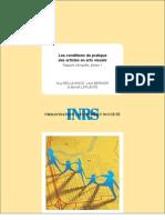 Bellavance, G., Bernier, L., Laplante, B. - Les conditions de pratique des artistes en arts visuels