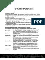 Ontario Municipalities Benchmarking Initiative - EMS