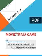 Movie Trivia Game Ppt