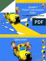 Grade 5 Parent Info Night