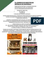 Cruel COMERCIO de ANIMALES de COMPAÑÍA en GUATEMALA. por PAGT.