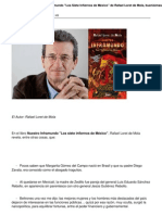 Notas Del Libro Nuestro Inframundo Qlos Siete Infiernos de Mexico de Rafael Loret de Mola Buenisimas