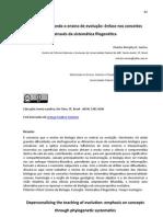 Santos & Klassa 2012 Despersonalizando o ensino de evolução