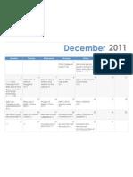 Kelly December 2011 Content Calendar