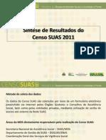 Apresentação do Censo SUAS 2011 - CNAS