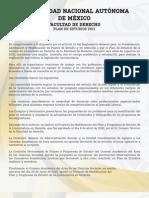 Plan Derecho UNAM 2011