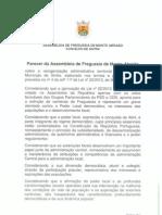 Parecer da Assembleia de Freguesia de Monte Abraão sobre a reorganização administrativa