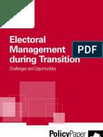 Electoral Management During Transition IDEA INTERNATIONAL