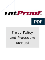 TOC - Fraud Policy and Procedure Manual