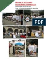 MANIFESTACIÓN PACIFICA CONTRA EL MALTRATO DE LOS CABALLITOS DE LA ANTIGUA GUATEMALA Domingo 9 Octubre 2011, y pésimas condiciones de los equinos explotados ese dia.
