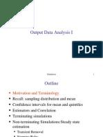 שפות סימולציה- הרצאה 12 |  Output Data Analysis I