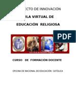 CURSO DE  FORMACION DOCENTE  AULA VIRTUAL DE EDUCACIÓN RELIGIOSA