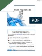 AF y Expresiones Regulares