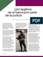 2.- Uso de La Fueza Policialr