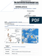 NDRRMC Update SWB Advisory No.2 Tropical Depression Lawin