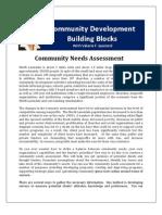 Community Development Building Blocks-Community Needs Assessment