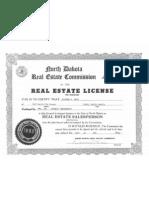 1992 - Rick Berg's Real Estate License for MMC, Inc.