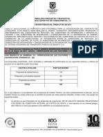 FORMULARIO Nº 14 PLIEGO DE CONDICIONES DEFINITIVO