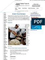 Arabic Food Recipes, Arrabian Cousine, How to Make Hammus Zaatar, Falafil, Fatush ,Exotic Dubai Tours Safaris and Hotels Dubai