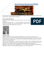 What Others Said About Prophet Muhammad