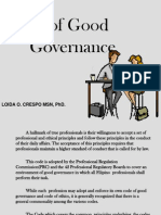 Code of Good Governance as Applied to Nursing Practice