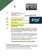 Deputy Registar Training RESCHEDULED to 9-25-2012