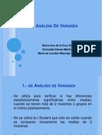 Análisis De Varianza