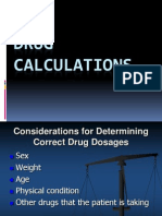 2- Drug Calculations (1 Hour)