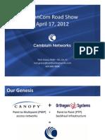 Cambium Networks Presentation