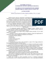 HOTĂRÎREA nr.32 (2003)Cu privire la aplicarea de către instanţele judecătoreşti a legislaţiei
