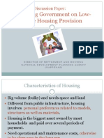 Reinventing Government on Low-Income Housing Provision
