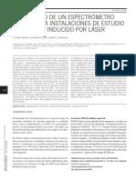 Desarrollo de un espectrómetro óptico para instalaciones de estudio del plasma inducido por láser