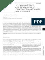 La enseñanza del campo eléctrico desde la caracterización inicial del conocimiento didáctico del contenido de una profesora de secundaria