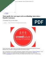 Tutto Quello Che Vuoi Sapere Sul Crowdfunding_ Intervista a Daniela Castrataro _ YDL