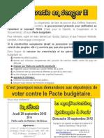 Tract Pacte Budgétaire