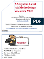 WiMAX System Level Analysis Methodology Framework V0.2