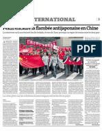 20120919 LeMonde Crisis China Japon Senkaku
