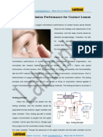 Oxygen Transmission Performance of Contact Lenses