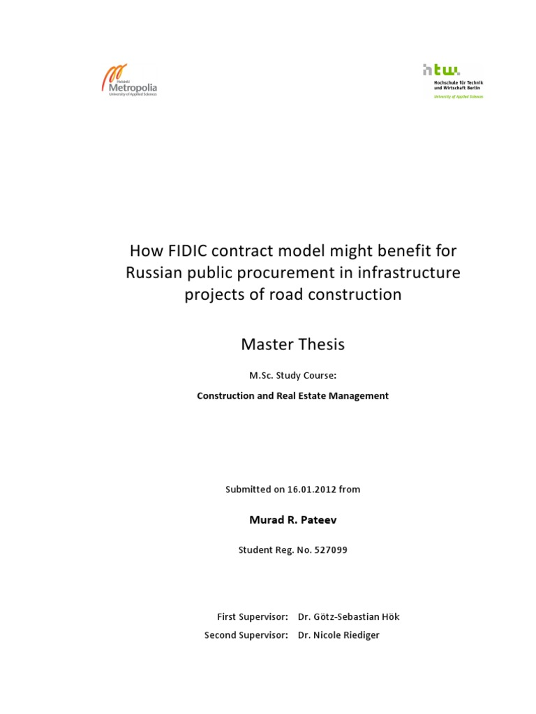 Master thesis documents