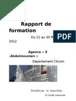 Rapport de formation SGMB