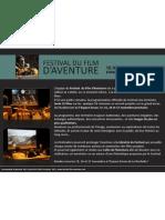 Communiqué de presse - Festival du Film d'Aventure de La Rochelle