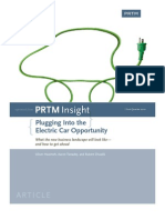 PRTM Plugging Into Electric Car Opportunity