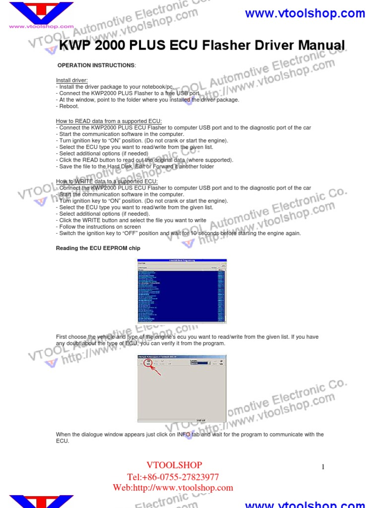 kwp2000 plus ecu flasher user manual rh scribd com Bosch Steering ECU Bosch Breakout Box