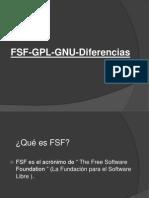 FSF GPL GNU Diferencias