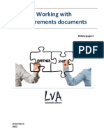 Working with requirements documents