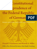 The Constitutional Jurisprudence of the Federal Republic of Germany by Donald P. Kommers